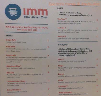 Imm Street Thai Food
