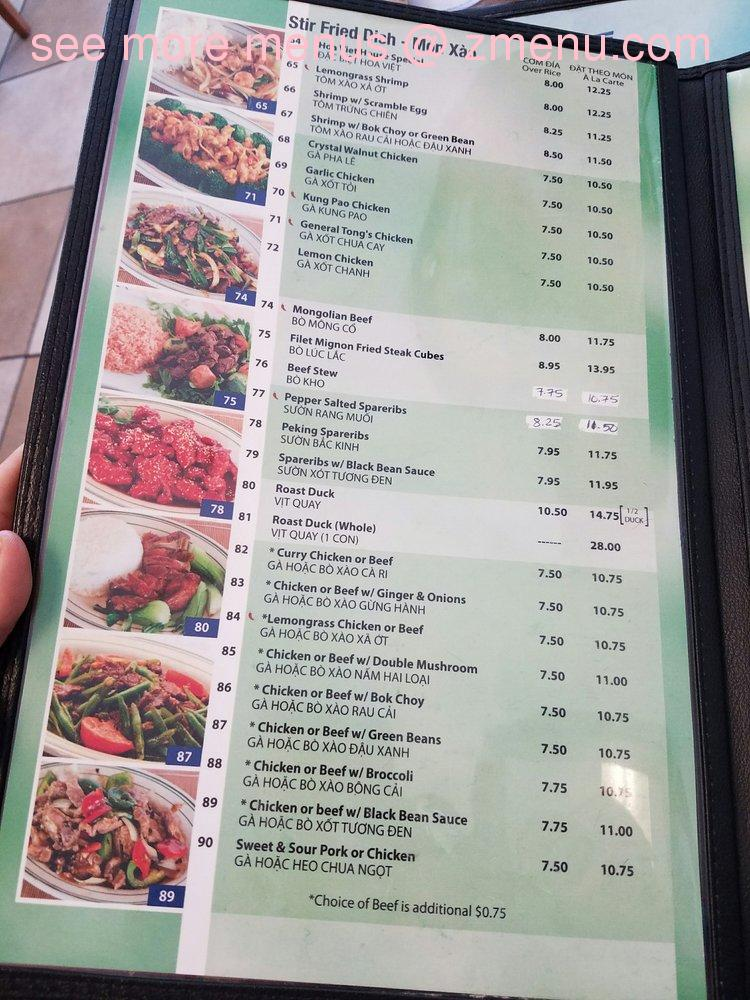 Viet Hoa Restaurant Menu