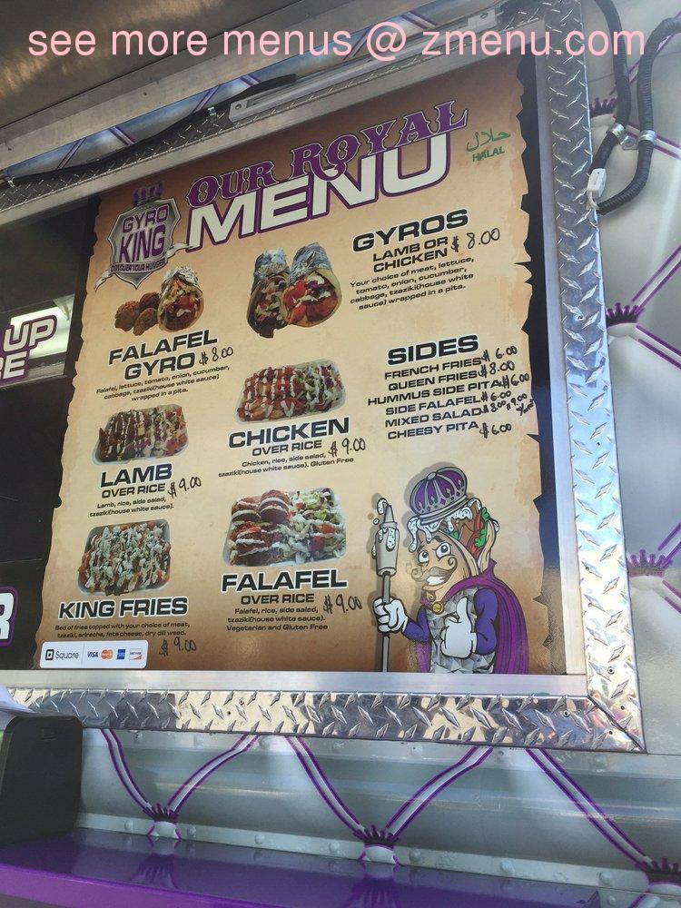 Online Menu of Gyro King Restaurant, Sacramento
