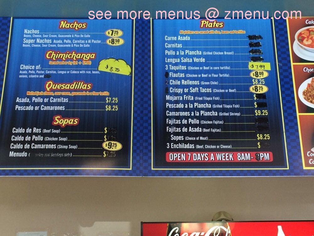 Online menu of mr fish mex grill restaurant los for Mr fish menu