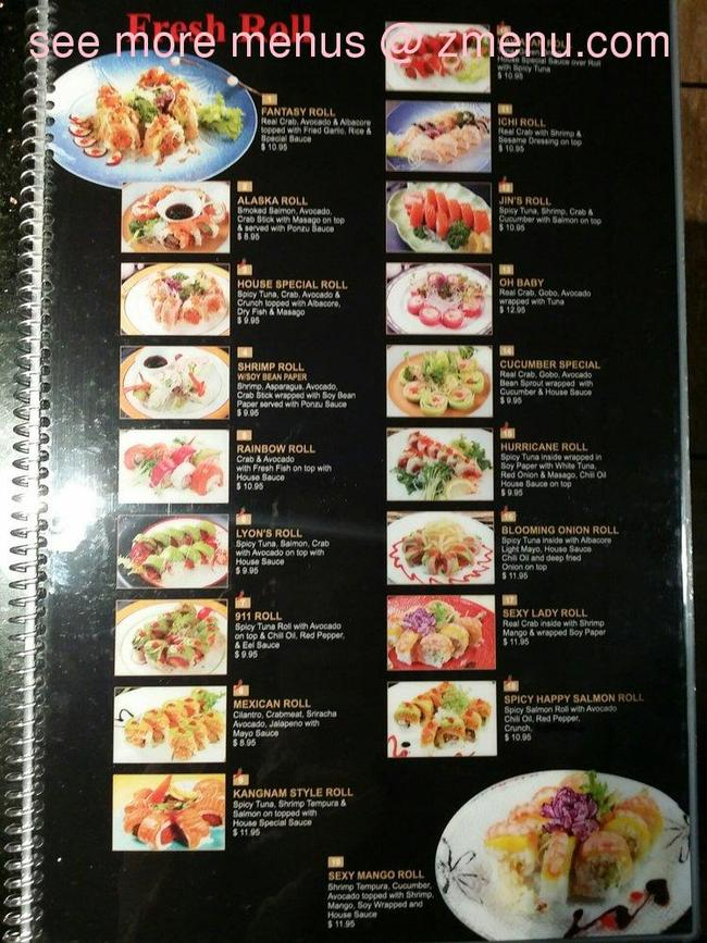 Online Menu of Love Sushi & Roll Restaurant, Newhall