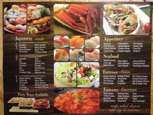 essayez buffet menu
