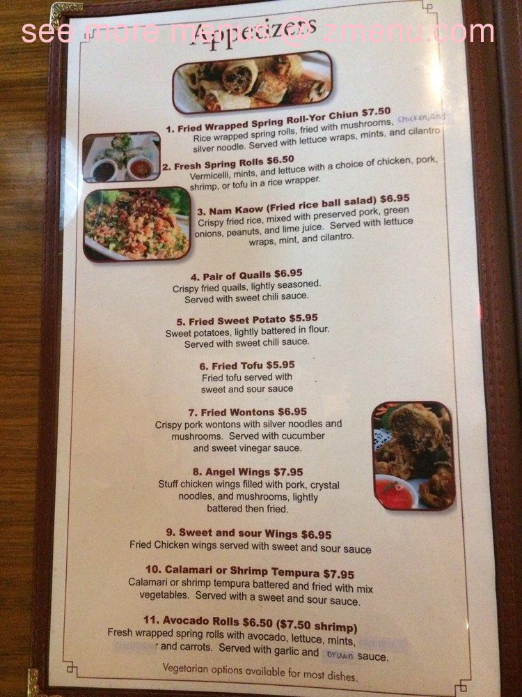 Champa Garden Restaurant Redding Ca Menu