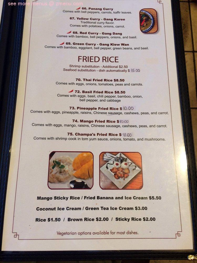 Online Menu Of Champa Garden Restaurant Redding California 96003 Zmenu