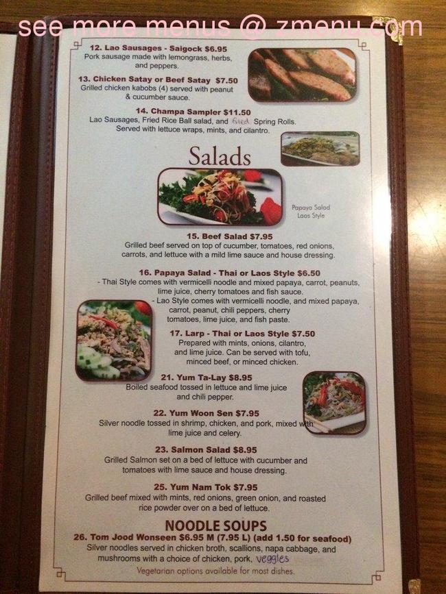 Champa Garden Restaurant Redding Ca