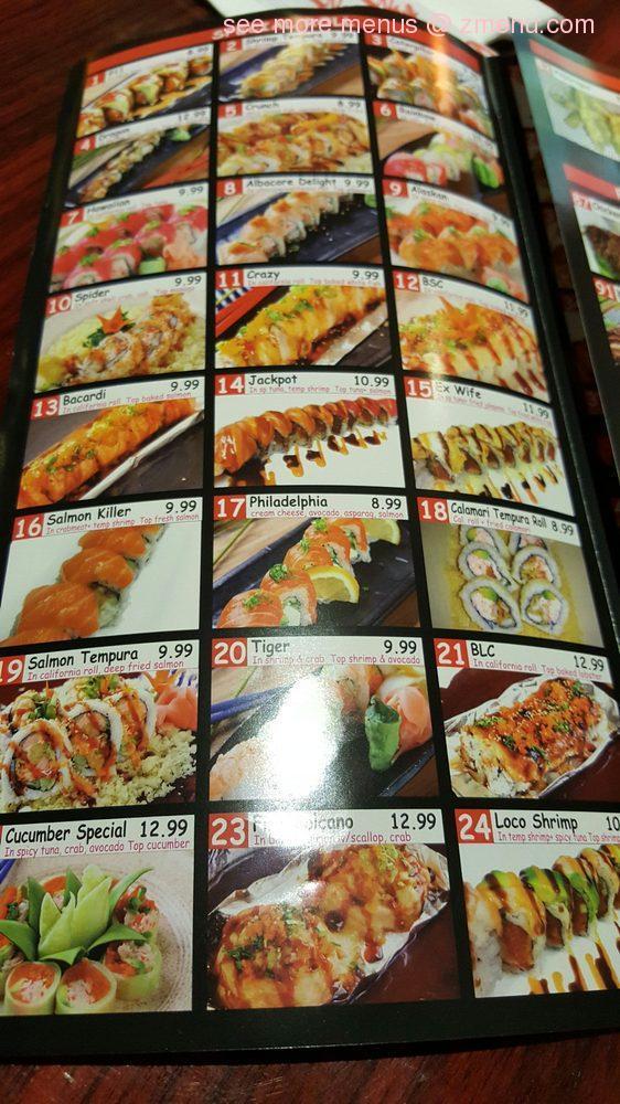 Menu di ichiban sushi