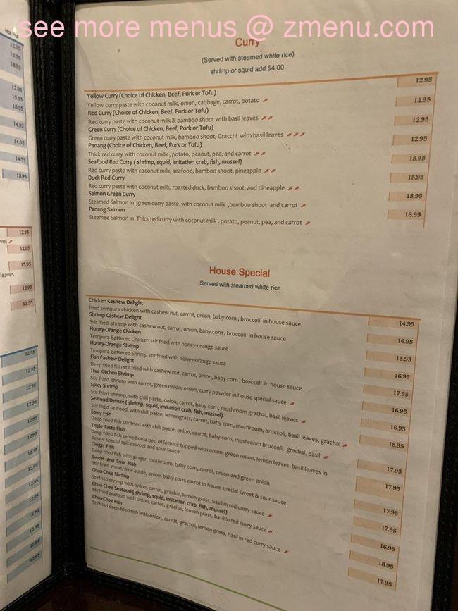 Online Menu Of Thai Kitchen Restaurant Bakersfield