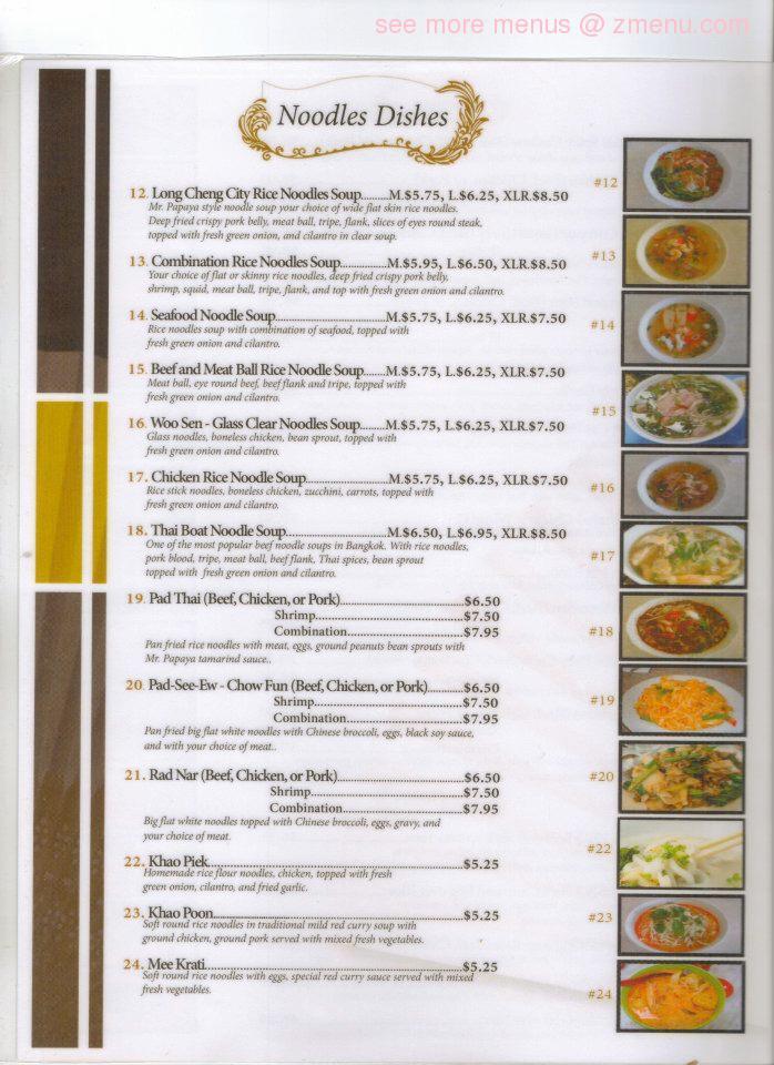 Online Menu Of Mr Papaya Kitchen Restaurant Fresno California 93727 Zmenu