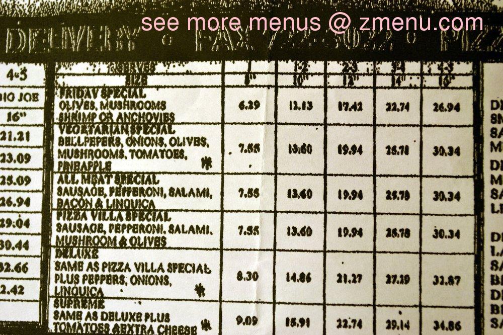 Villa Mexican Food Menu Merced Ca