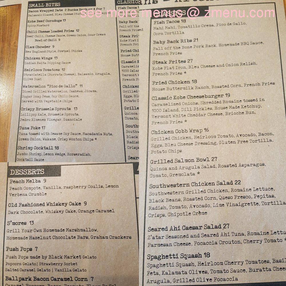 Online Menu of A&O Kitchen+Bar Restaurant, Newport Beach, California ...