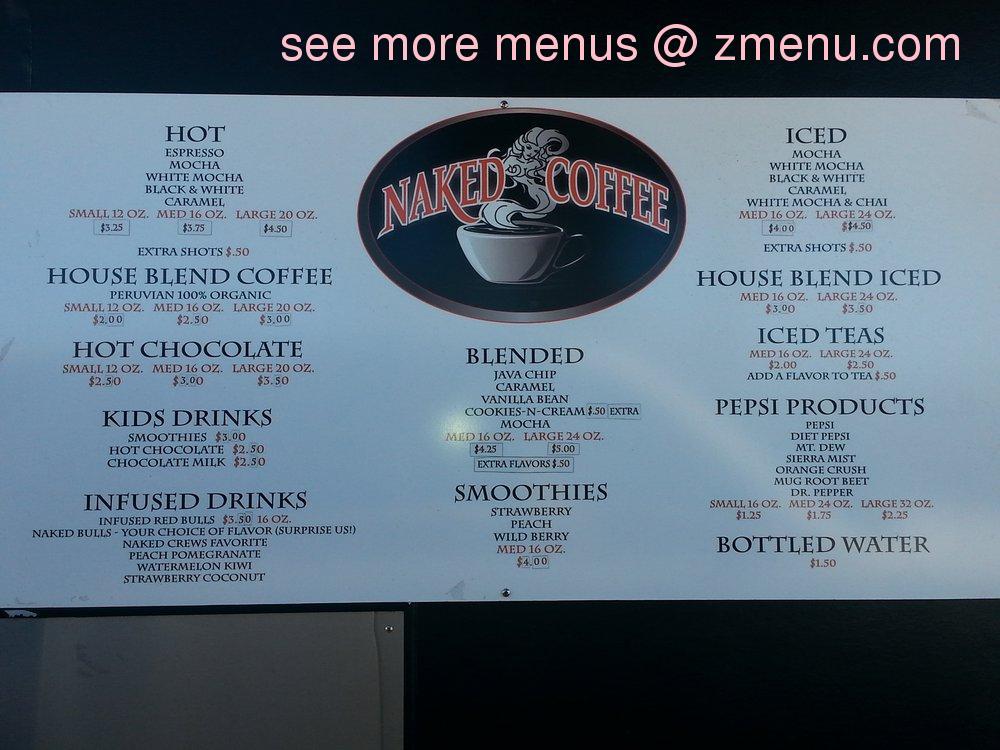 Online Menu of Naked Coffee Restaurant, Redding