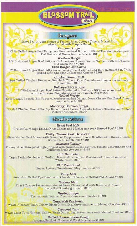Blossom Trail Cafe Hours