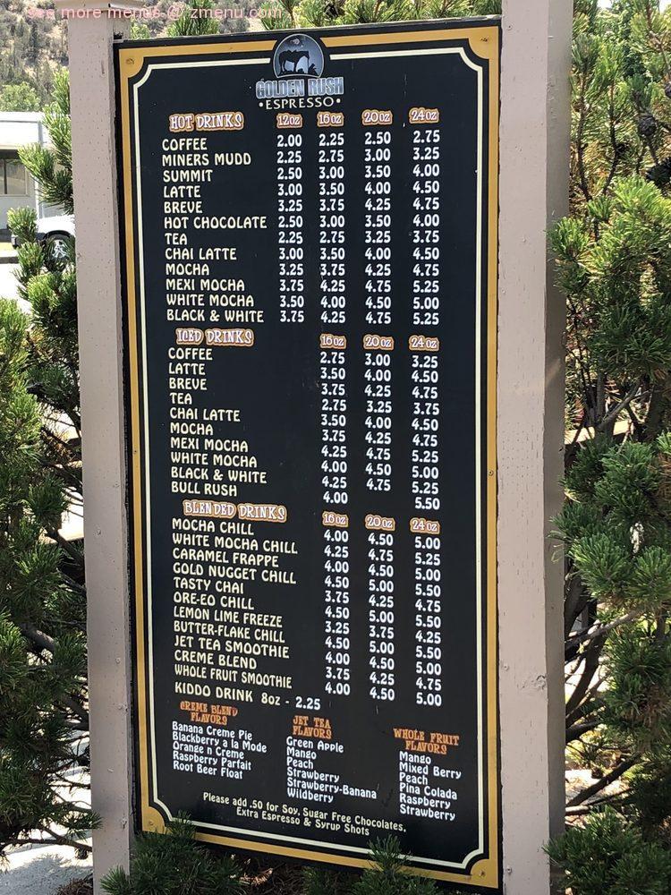 Online Menu Of Golden Rush Espresso Restaurant Yreka California 96097 Zmenu