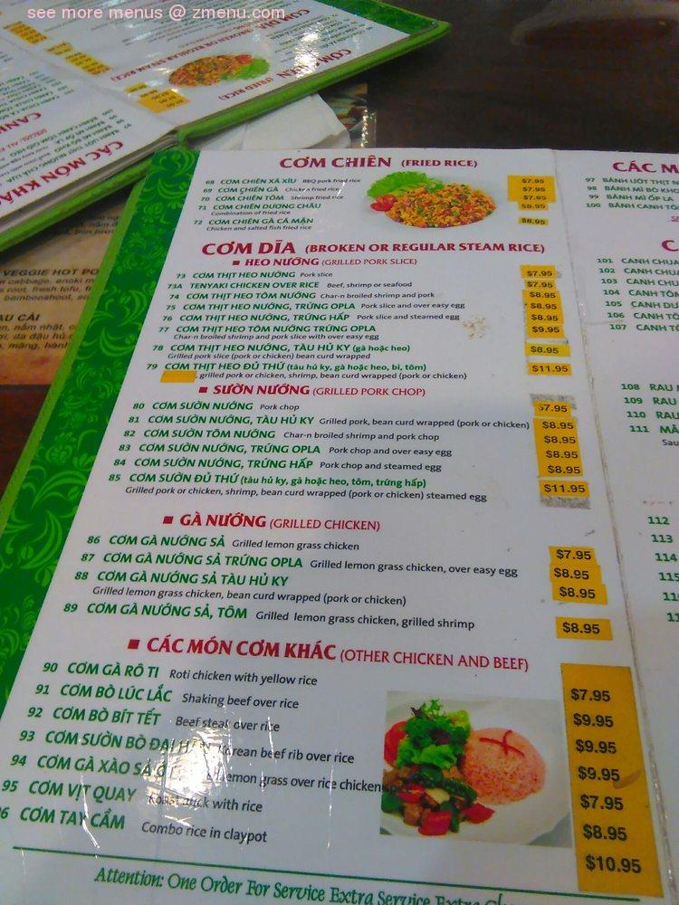 Online Menu Of Pho Lucky Noodle House Restaurant Stockton California 95210 Zmenu