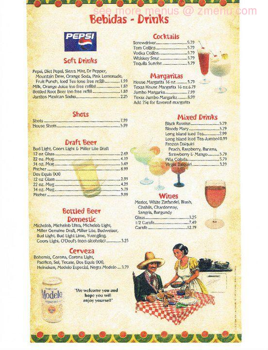Online Menu Of El Rodeo Mexican Restaurant Restaurant