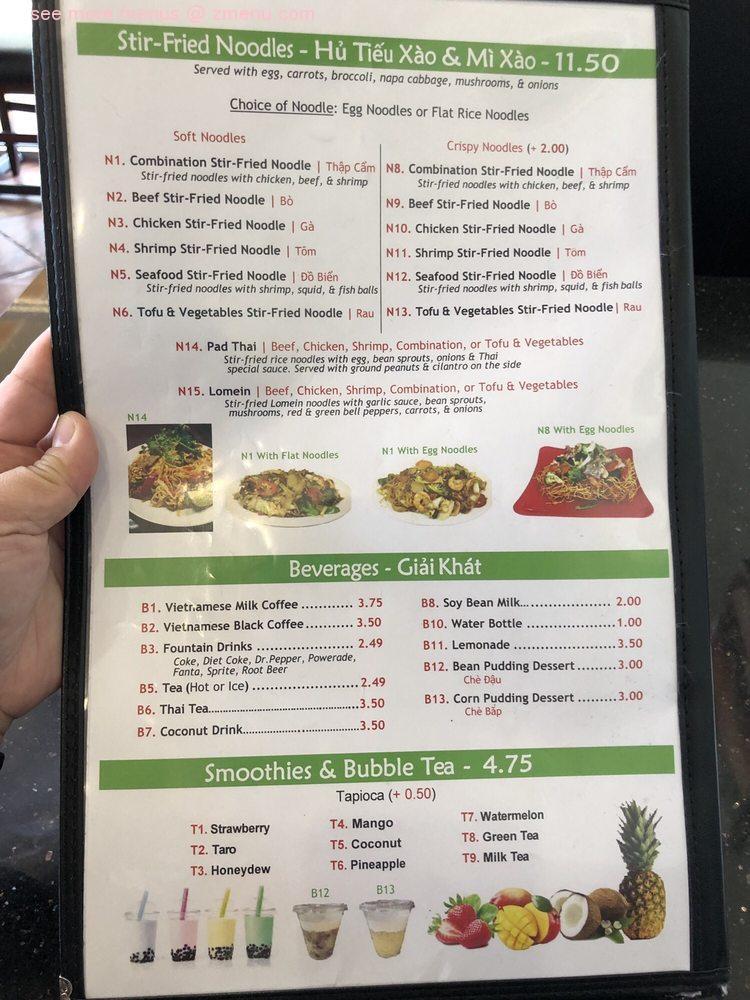 Online Menu Of Pho Thanh Nhi Restaurant Cedar Park Texas 78613 Zmenu