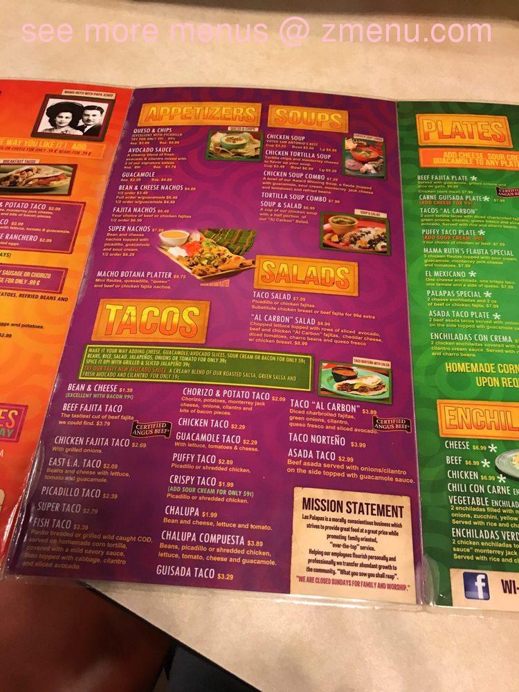 Online Menu Of Las Palapas Restaurant San Antonio Texas