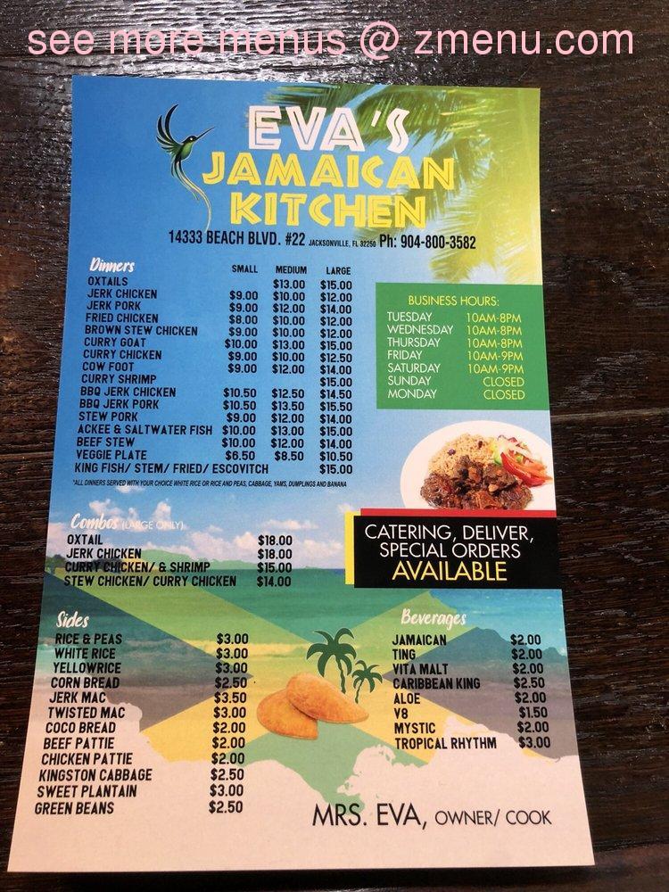 Online Menu Of Evas Jamaican Kitchen Restaurant