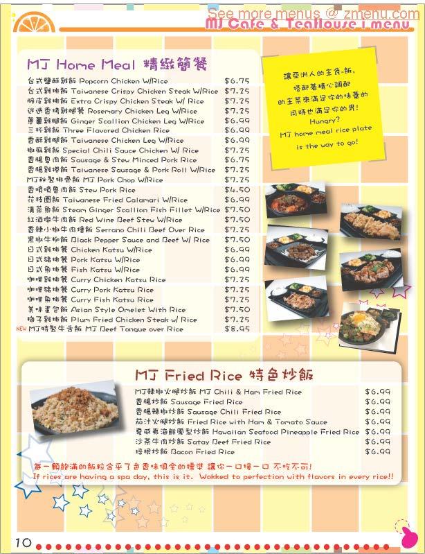 Teahouse The Asian Kitchen Menu