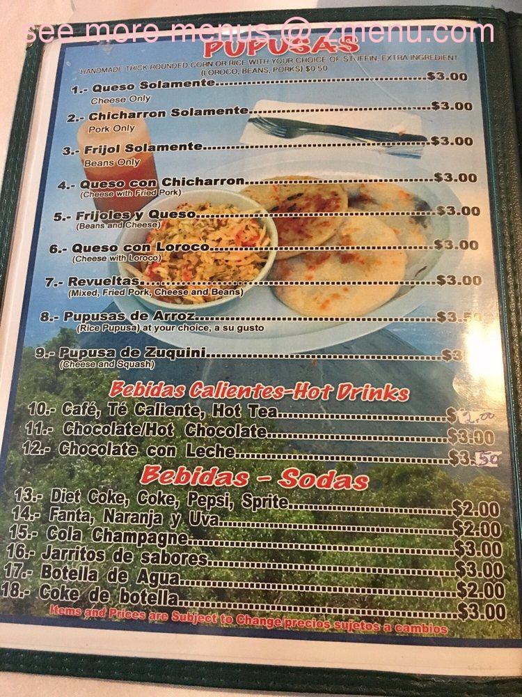 Online Menu Of Restaurante El Salvador Restaurant Concord