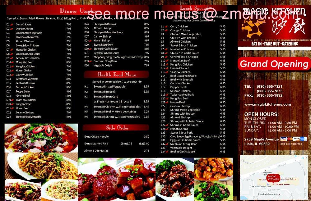 Online Menu Of Magic Kitchen Restaurant Lisle Illinois 60532 Zmenu