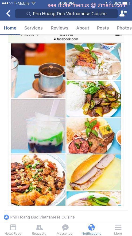 Online Menu Of Pho Hoang Duc Closed Restaurant Phoenix Arizona 85017 Zmenu