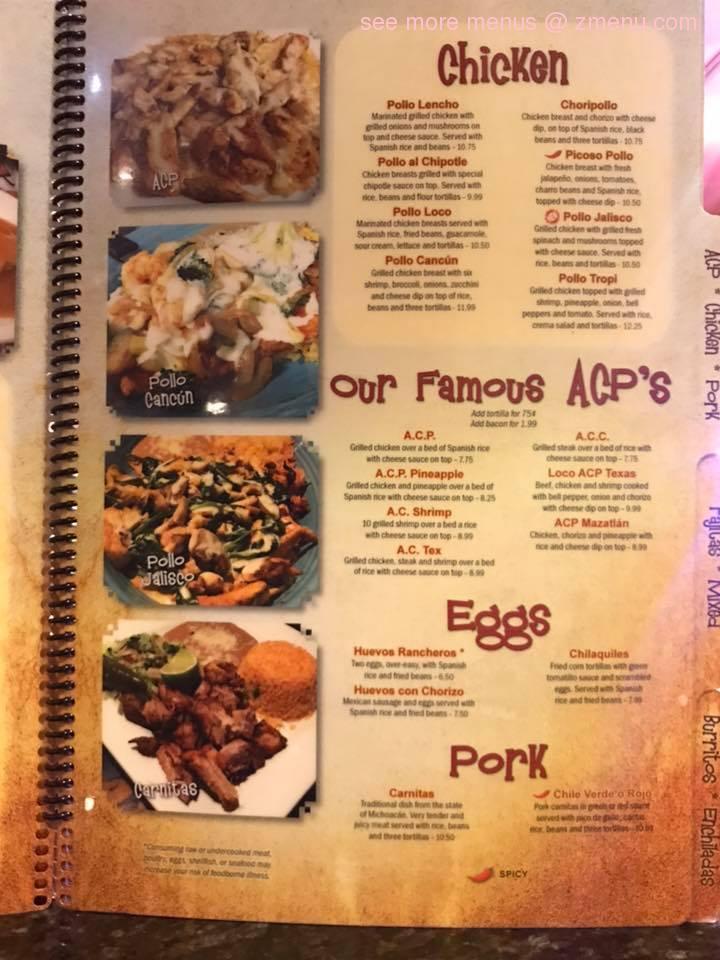 Online Menu of 7 Hermanos Restaurant, Johnson City ...