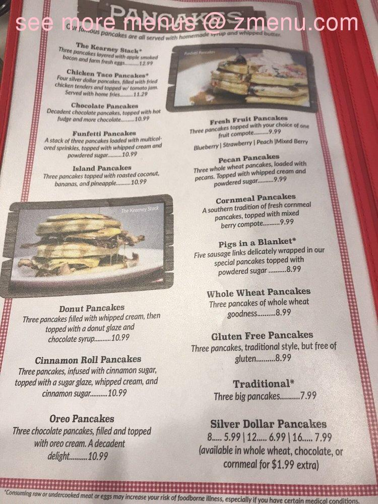 Online Menu Of Frizzle Chicken Pancake Coop Restaurant Pigeon Forge