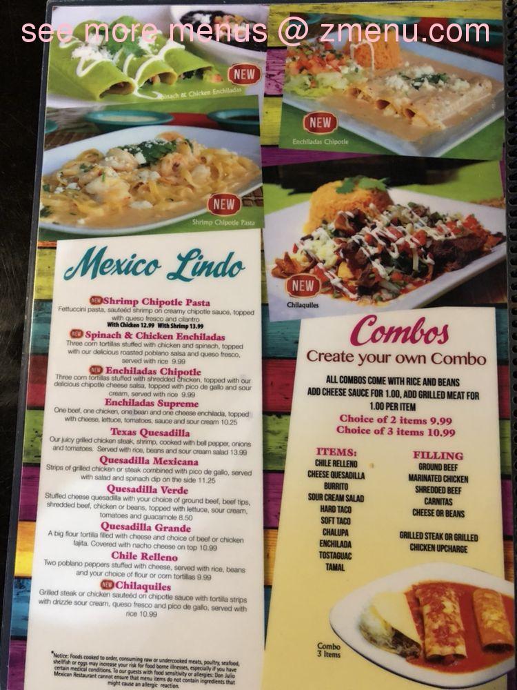 Online Menu Of Don Julio Mexican Restaurant Restaurant Wake