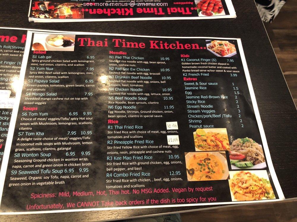 Online Menu Of Thai Time Kitchen Restaurant Mesa Arizona 85204 Zmenu