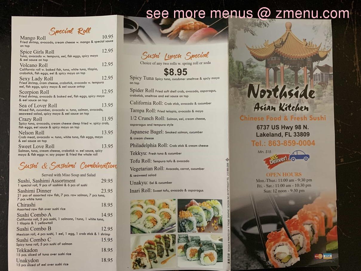 Online Menu Of Northside Asian Kitchen Restaurant Lakeland Florida