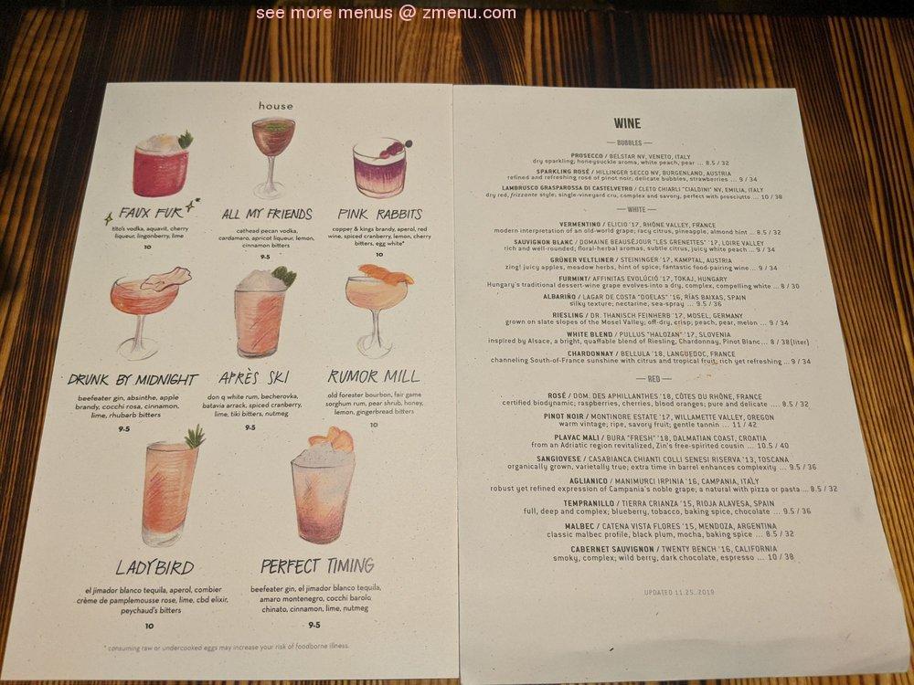 Online Menu Of Tazza Kitchen Cameron Village Restaurant Raleigh North Carolina 27605 Zmenu