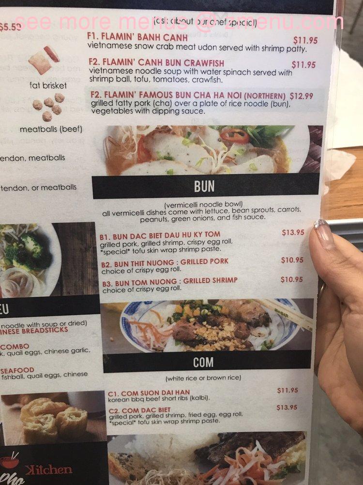 Online Menu Of Flamin Kitchen Restaurant Charlotte North