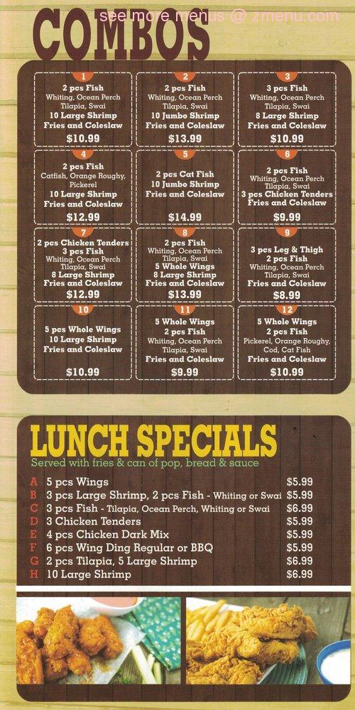 Online Menu of Alaska Fish and Chicken Restaurant, Oak Park