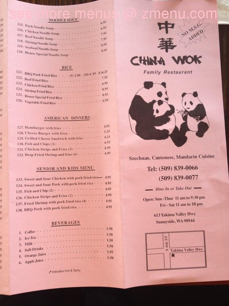 Online Menu Of China Wok Restaurant Orlando Florida 32826 Zmenu