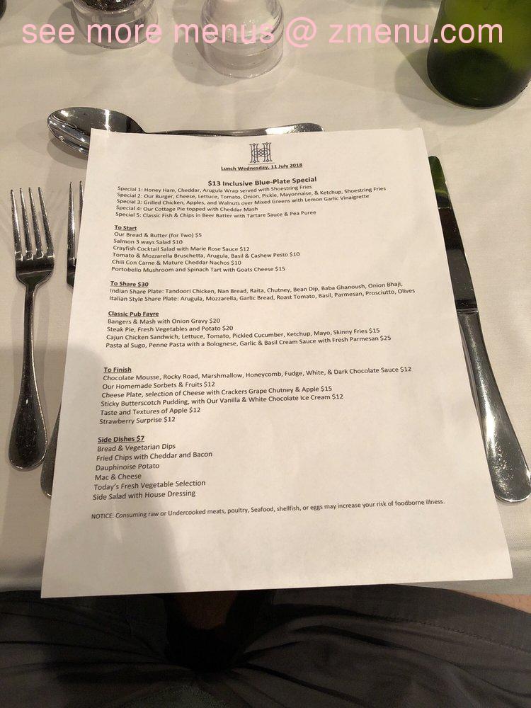 Online Menu of Highlander Scottish Pub Restaurant
