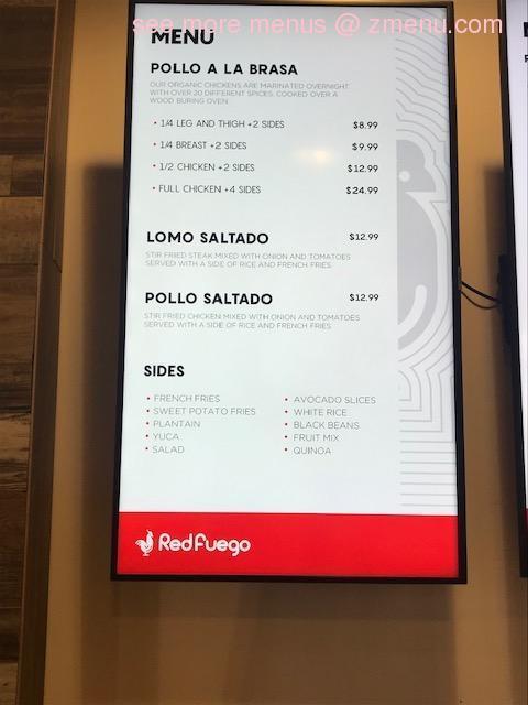 Online Menu Of Red Fuego Restaurant Orem Utah 84097 Zmenu