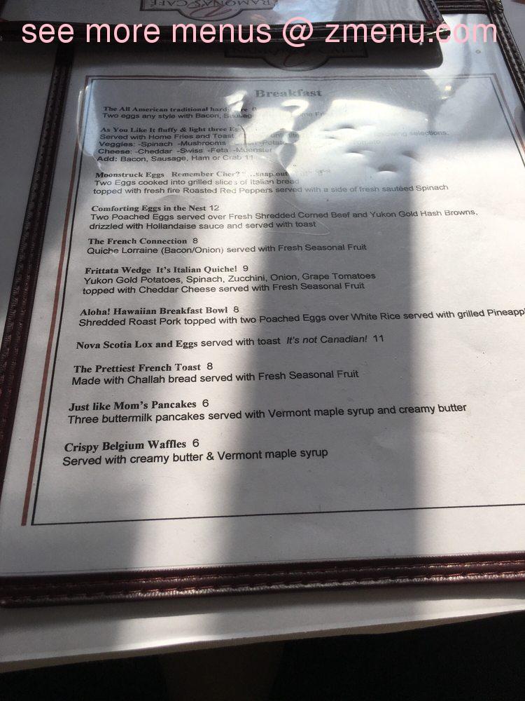 Oppsiktsvekkende Online Menu of Ramona's Cafe Restaurant, West Nyack, New York TV-98