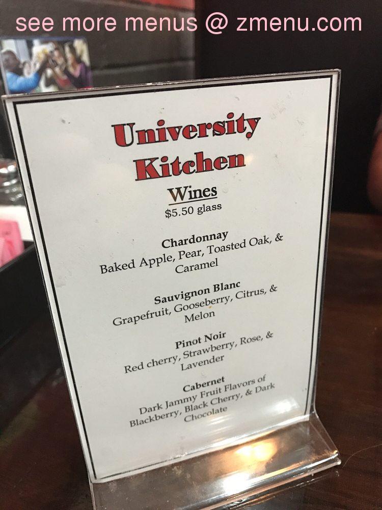 Online Menu Of University Kitchen Restaurant High Point North Carolina 27262 Zmenu