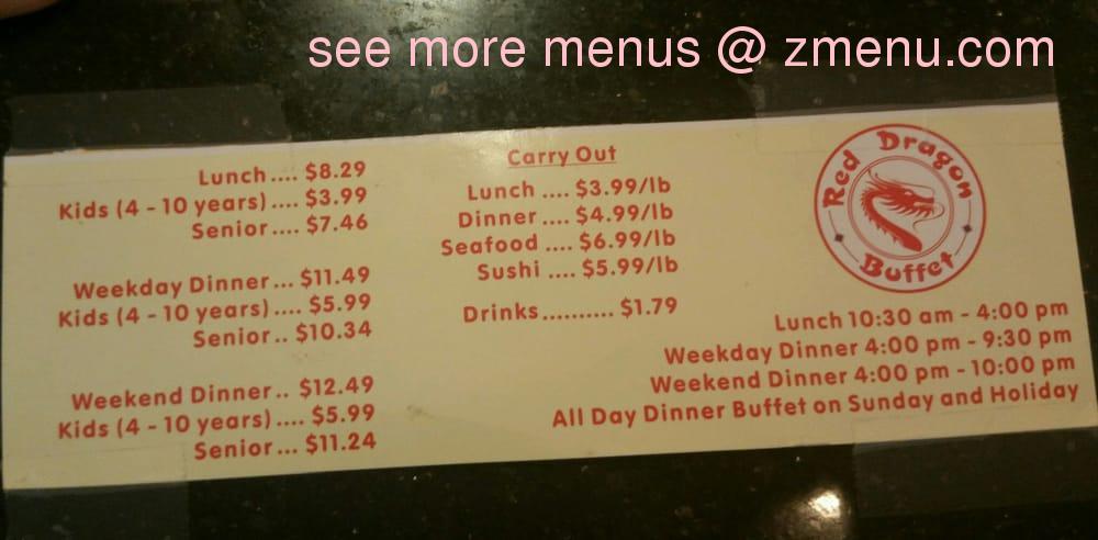 online menu of red dragon buffet restaurant avondale arizona rh zmenu com dragon pearl buffet prices york mills golden dragon buffet prices