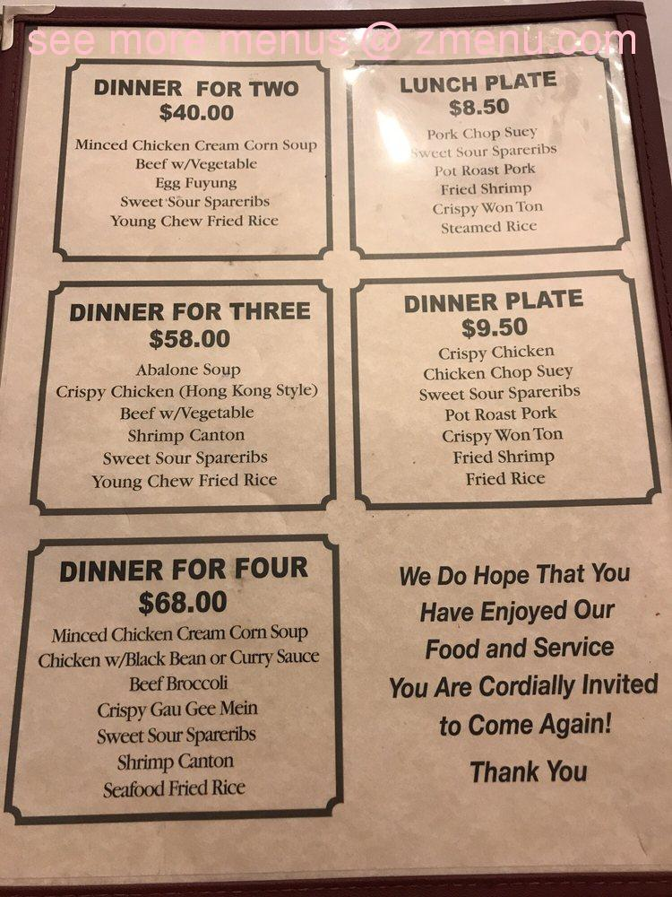 online menu of pauoa chop suey restaurant honolulu