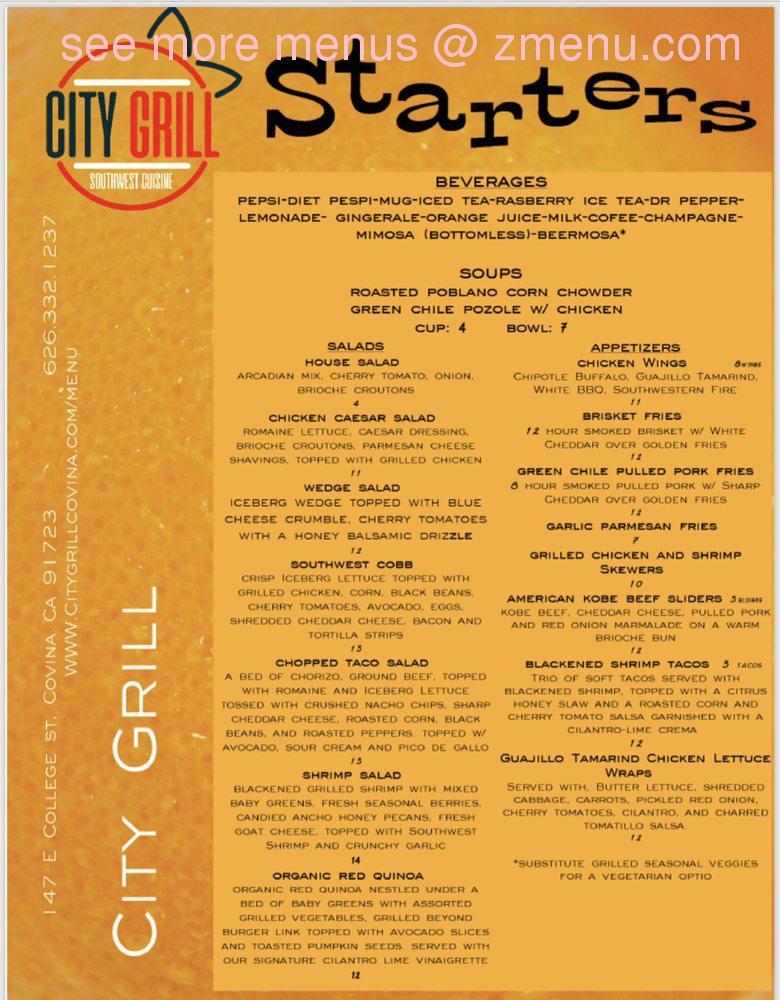 online menu of city grill restaurant covina california 91723 zmenu online menu of city grill restaurant