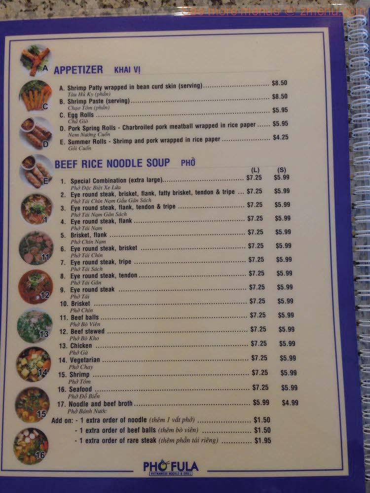 Round Table La Habra.Online Menu Of Pho Fula Restaurant La Habra California 90631 Zmenu