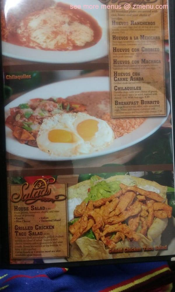 Marcos Cuban Cafe Menu