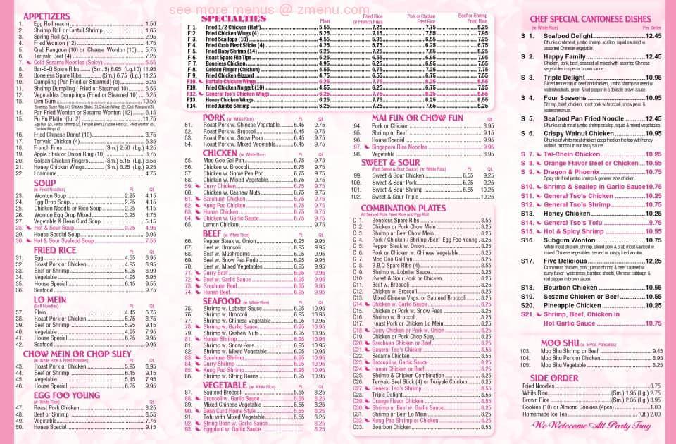 Online Menu Of Lucky Kitchen Restaurant West Haven Connecticut 06516 Zmenu