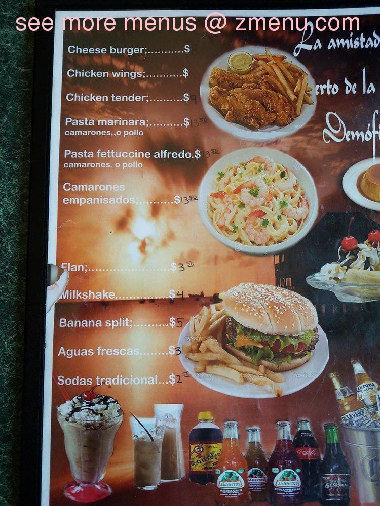 Online Menu Of El Camaron De Sinaloa Restaurant Redwood City
