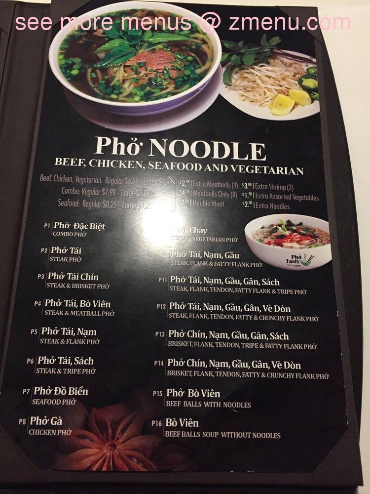 Online Menu of Pho Tasty Restaurant, Federal Way, Washington, 98023