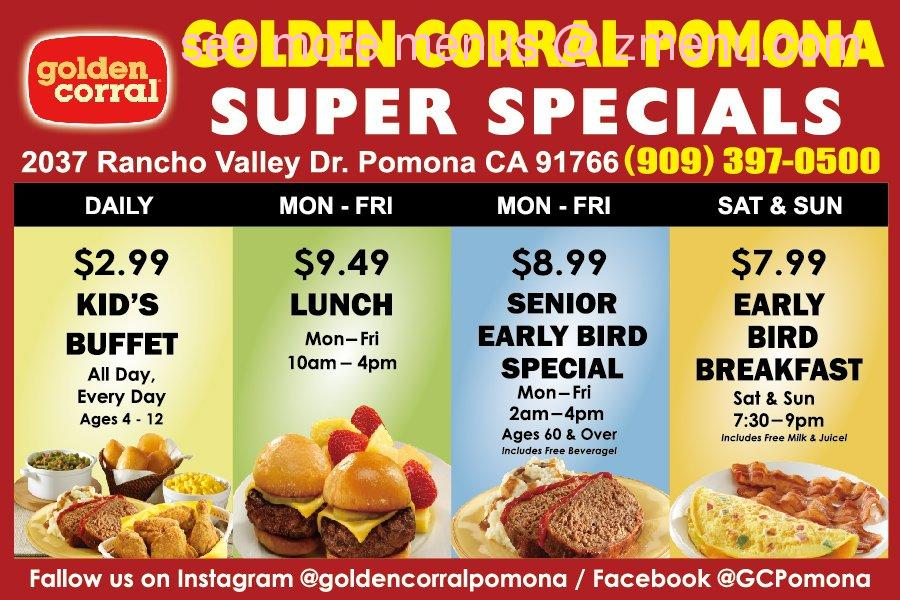online menu of golden corral buffet grill restaurant pomona