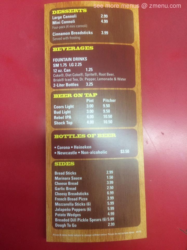 Online Menu of DeMatteos Pizza Restaurant, Riverside, California