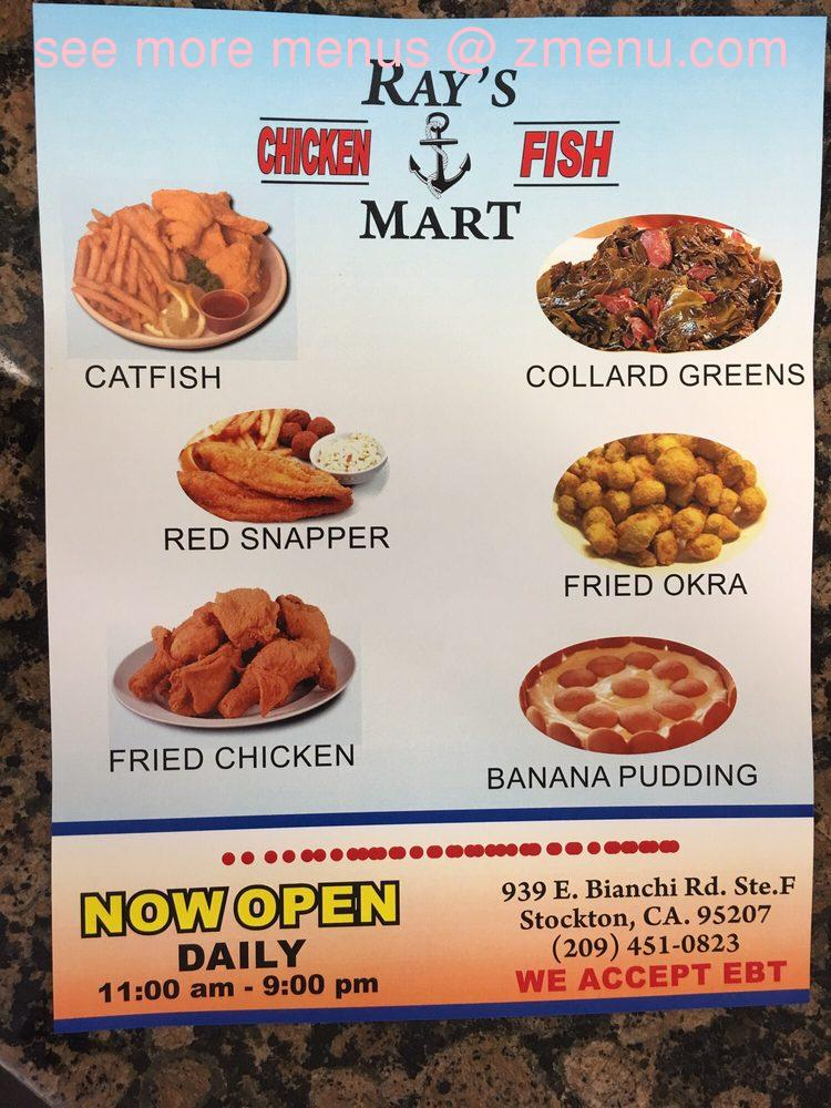 Online menu of rays chicken and fish mart restaurant for Two fish menu